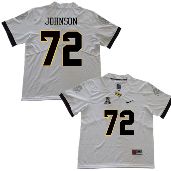 Men #72 Jordan Johnson UCF Knights College Football Jerseys Sale-White